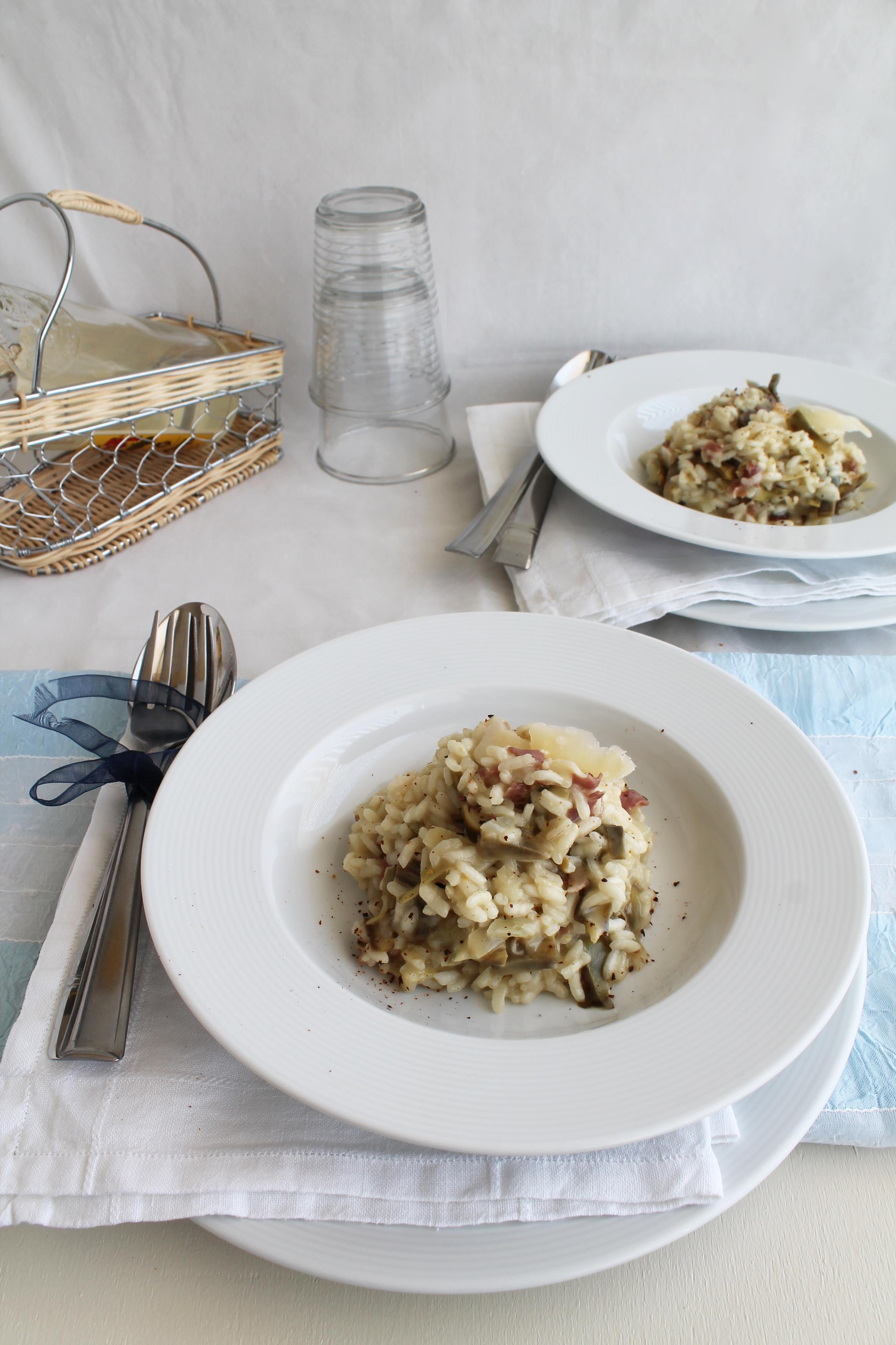Risotto ai carciofi - La Cassata Celiaca