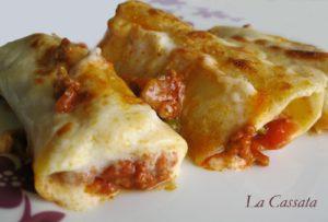 Cannelloni con ragù e besciamella (gluten free) - La Cassata Celiaca