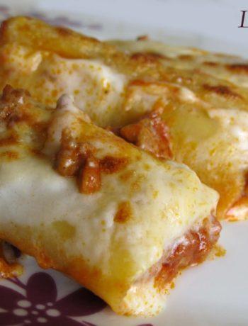 Cannelloni con ragù e besciamella (gluten free)