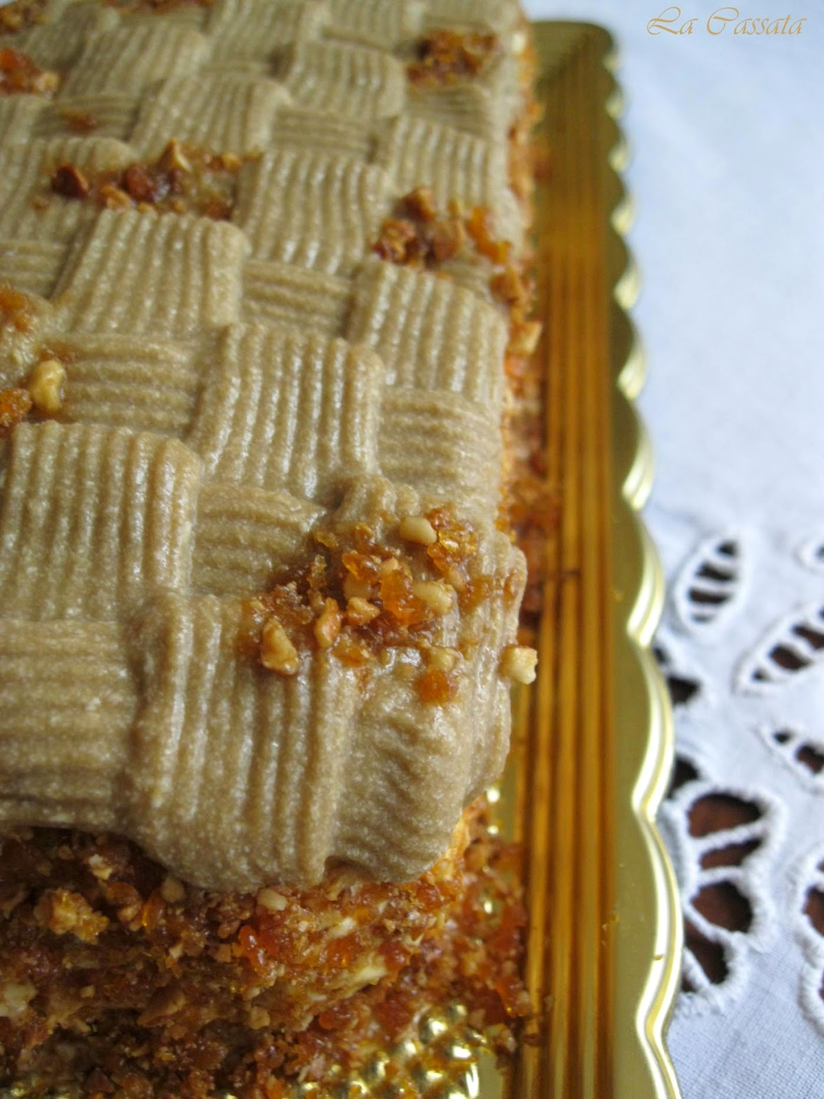 Trancetto con crema al caffè e crema al mascarpone - La Cassata Celiaca