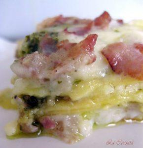 Lasagne con pesto, pancetta e besciamella senza glutine - La Cassata Celiaca