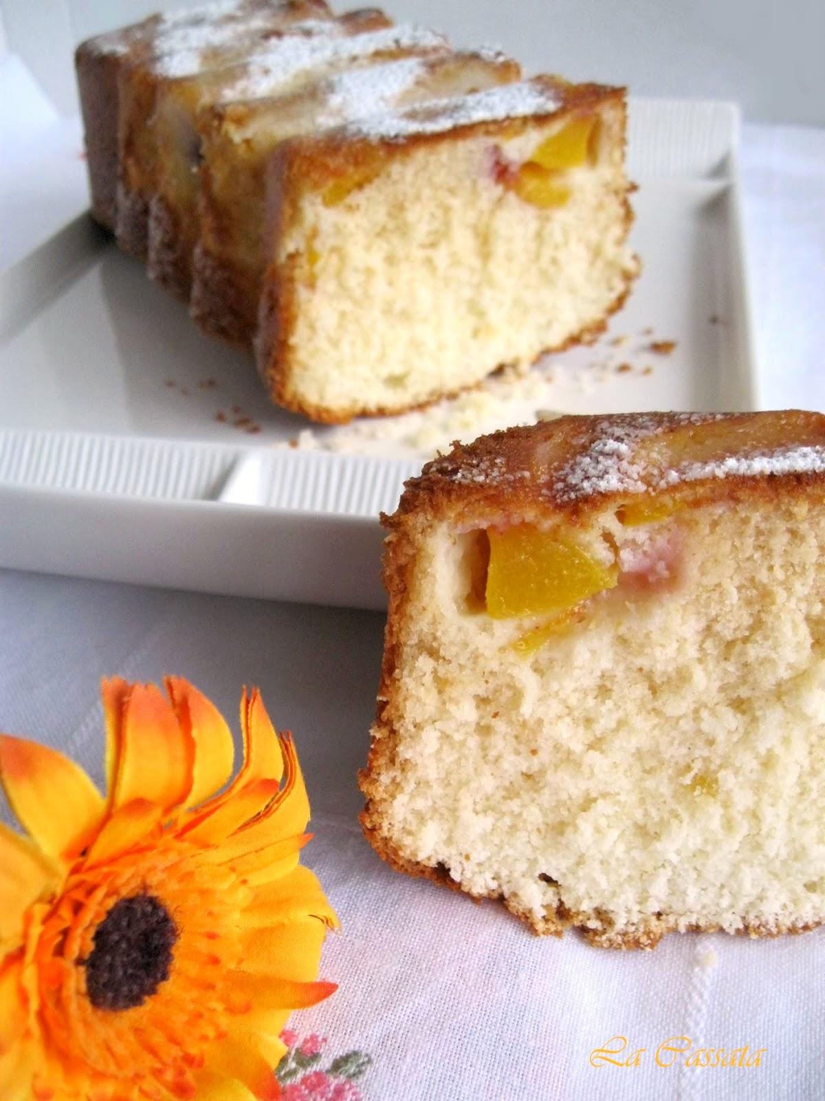 Cake alle pesche (anche senza glutine) - La Cassata Celiaca