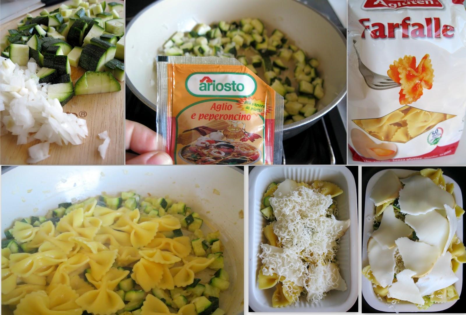 Farfalle al forno con zucchine e scamorza senza glutine - La Cassata Celiaca