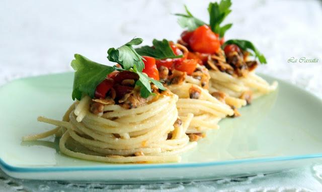 Spaghettis à la botargue et aux palourdes sans gluten - La Cassata Celiaca