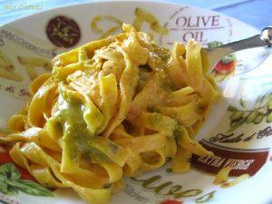 Fettuccine con crema di peperoni senza glutine - La Cassata Celiaca