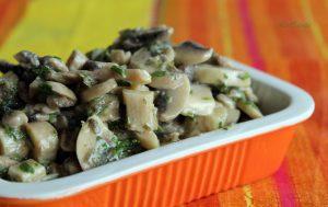Champignons crus à la moutarde - La Cassata Celiaca