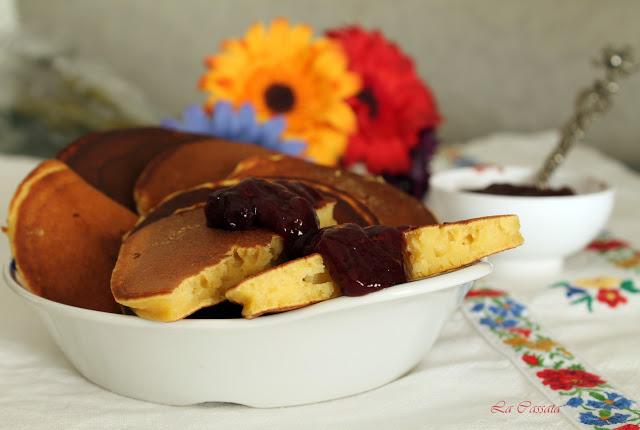 Blinis de potiron, farine de pois chiches et ricotta - La Cassata Celiaca