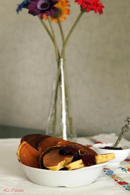 Blinis alla zucca, farina di ceci e ricotta - La Cassata Celiaca