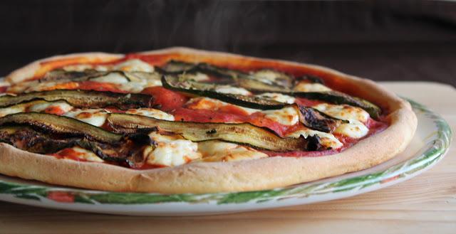Pizza con certosa e zucchine senza glutine - La Cassata Celiaca
