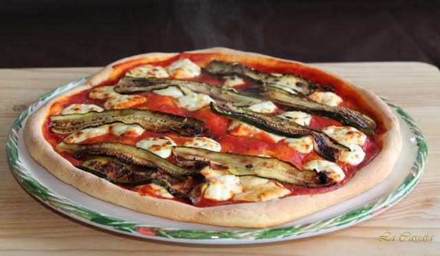 Pizza sans gluten avec fromage Certosa e courgettes - La Cassata Celiaca