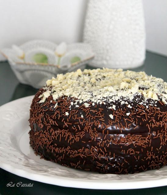 Torta al cioccolato con crema al mascarpone e caramello mou senza glutine