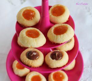 Petits fours au beurre et confiture d'abricots sans gluten - La Cassata Celiaca