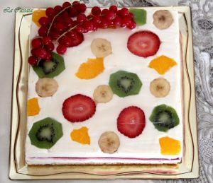 Torta con frutta di Montersino senza glutine - La Cassata Celiaca