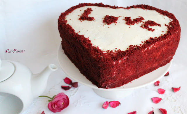 Romantic Red Velvet Cake sans gluten - La Cassata Celiaca