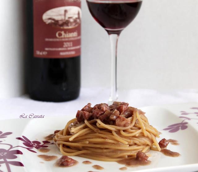 Spaghetti al Chianti senza glutine - La Cassata Celiaca