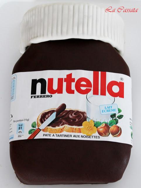 """Cake décoré """"Boîte de Nutella"""" sans gluten - La Cassata Celiaca"""