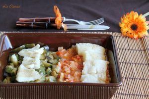 Morue avec légumes étuvés sans gluten - La Cassata Celiaca