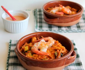 Fideuà multiculturale senza glutine - La Cassata Celiaca