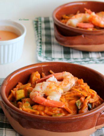 Fideuà multi-culturelle sans gluten - La Cassata Celiaca