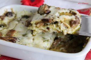 Lasagne con besciamella, funghi e pesto senza glutine - La Cassata Celiaca