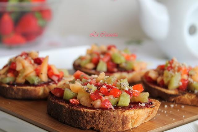 Bruschetta sucrée sans gluten - La Cassata Celiaca