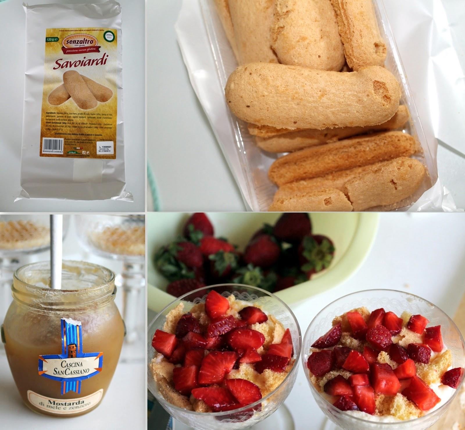 Tiramisù aux fraises sans gluten - La Cassata Celiaca