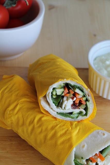 Veggie-wrap sans gluten - La Cassata Celiaca