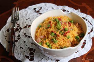 Taboulé con speck, pisellini e bacche di Goji (anche senza glutine) - La Cassata Celiaca