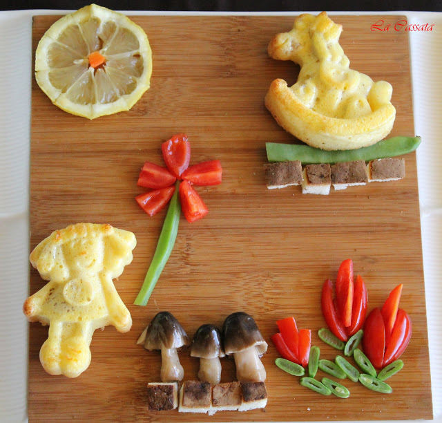 Fritattine al forno con pancetta e parmigiano, visual food - La Cassata Celiaca