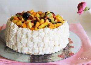 Torta chantilly e macedonia di frutta - La Cassata Celiaca
