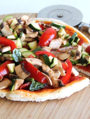 Pizza cruditè senza glutine - La Cassata Celiaca