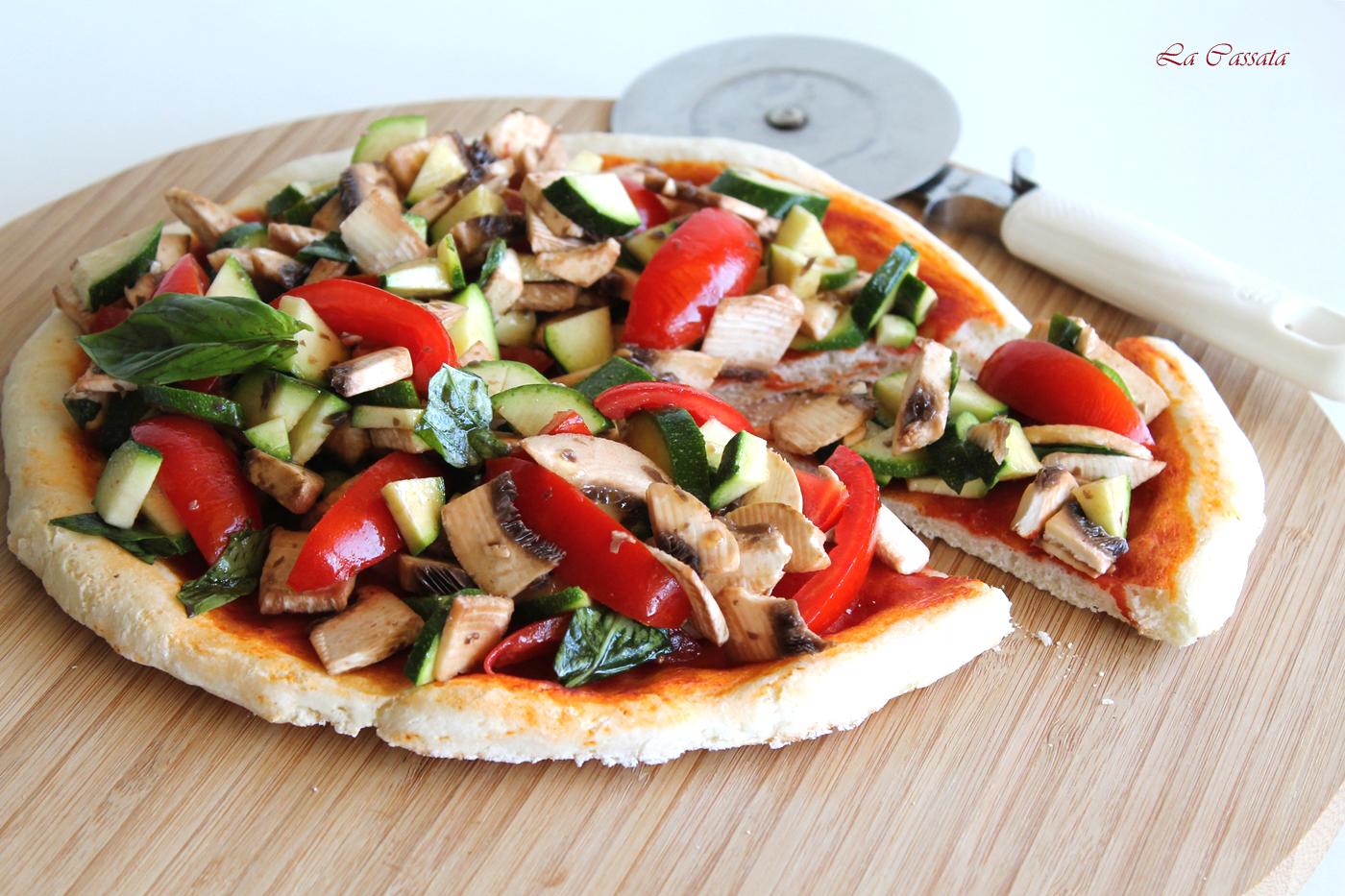 Pizza aux légumes sans gluten - La Cassata Celiaca