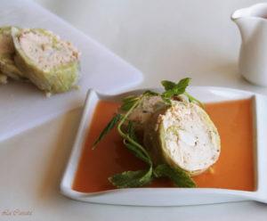Rotolo di trota salmonata e gamberetti - La Cassata Celiaca