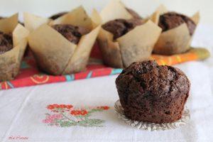 Muffins au chocolat sans gluten - La Cassata Celiaca