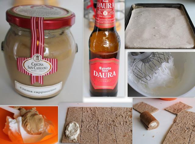 Sweet candle sushi con meringa al cappuccino e spuma alla birra - La Cassata Celiaca