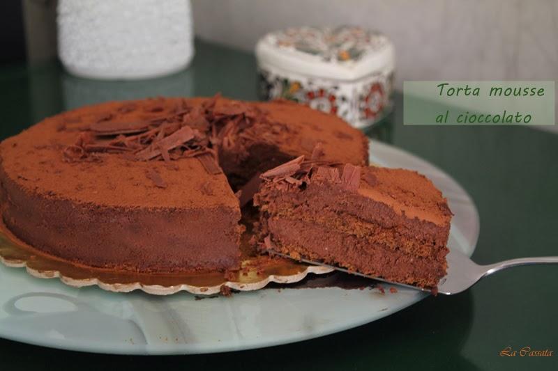 Torta con mousse al cioccolato fondente e gianduja - La Cassata Celiaca
