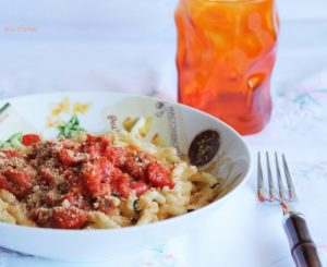 Trofie con ragù di seppioline - La Cassata Celiaca