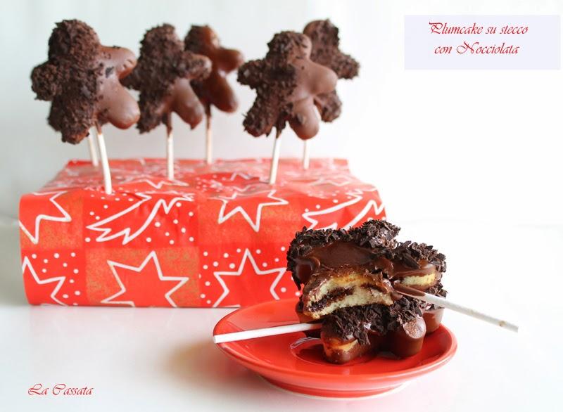 Cake lollipop avec crème de noisettes et crème gianduja - La Cassata Celiaca