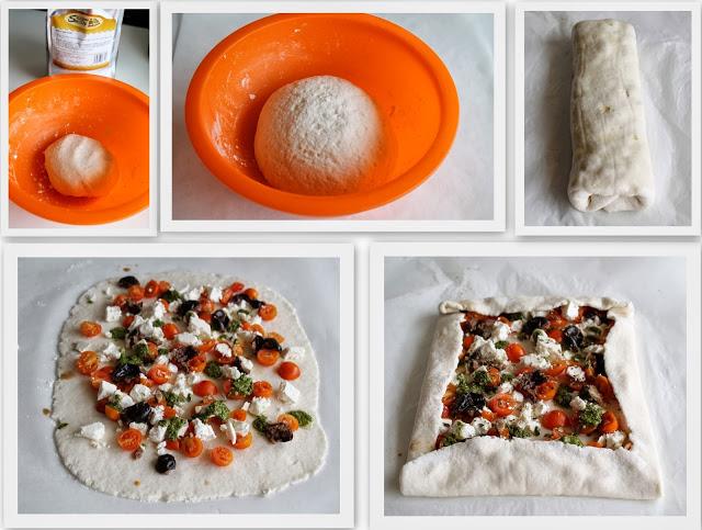 Strudel di pizza con pomodorini, feta e pesto senza glutine - La Cassata Celiaca