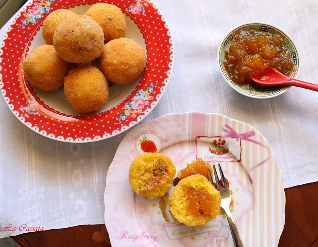Arancine dolci di cous cous senza glutine - La Cassata Celiaca