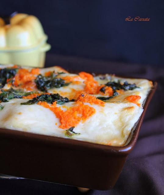Lasagnes sans gluten avec potiron et épinards - La Cassata Celiaca