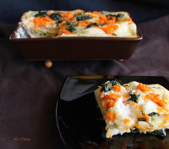 Lasagne con zucca e spinaci senza glutine - La Cassata Celiaca