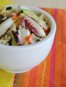Sauté de riz et  de légumes au curry sans gluten - La Cassata Celiaca