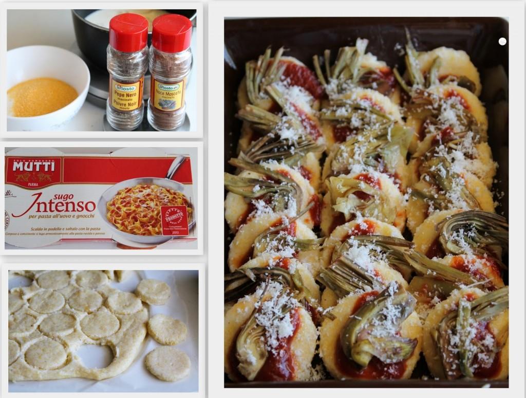 Gnocchis à la romana avec sauce tomates et artichauts- La Cassata Celiaca