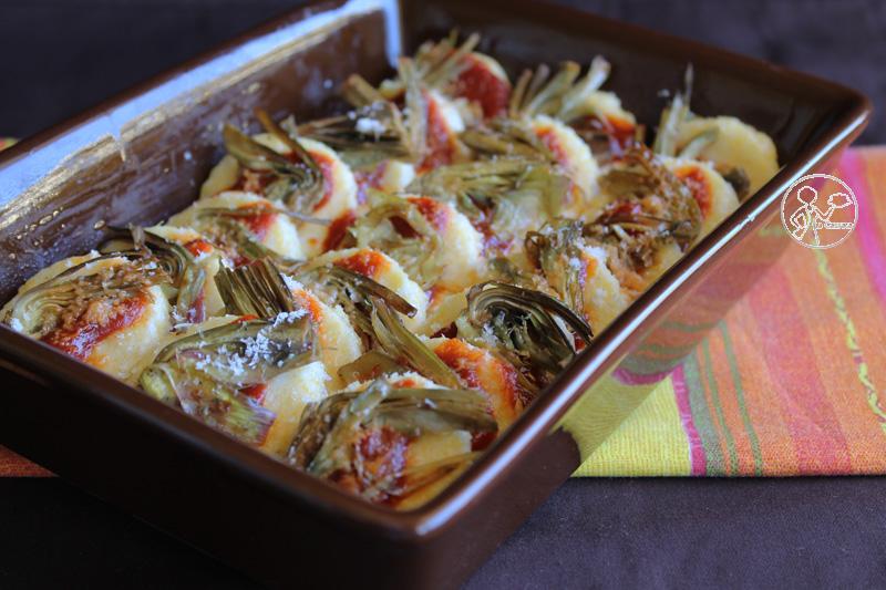 Gnocchis à la romana avec sauce tomates et artichauts - La Cassata Celiaca