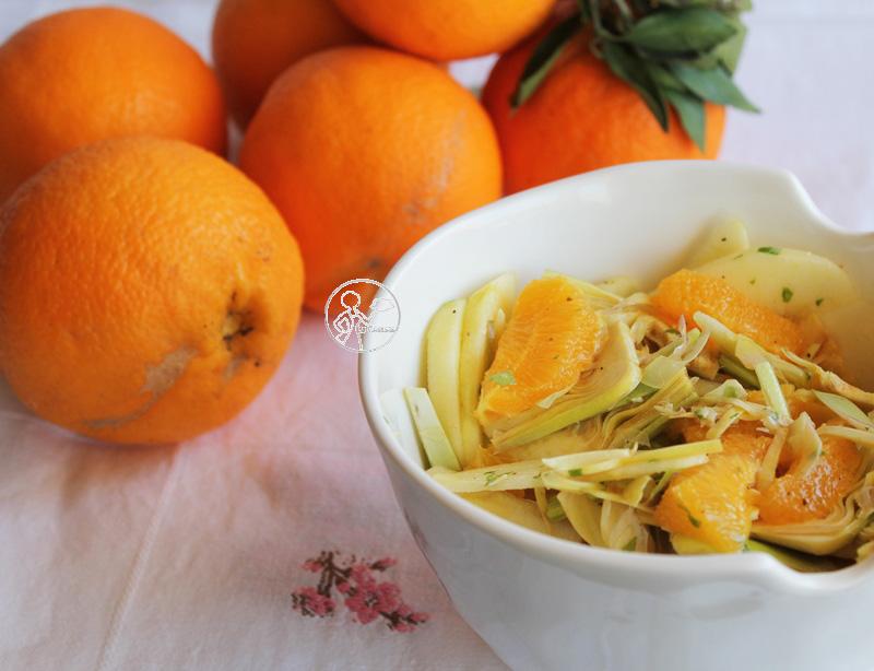 Salade d'artichauts, pommes et oranges - La Cassata Celiaca