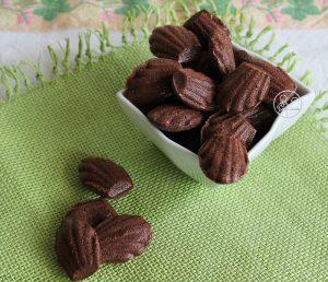 Mini madeleines au chocolat sans gluten - La Cassata Celiaca