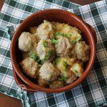 Monachelle, ovvero patate con polpette di carne in umido - La Cassata Celiaca
