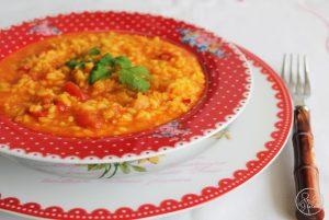 Risotto ai pomodorini e zafferano - La Cassata Celiaca