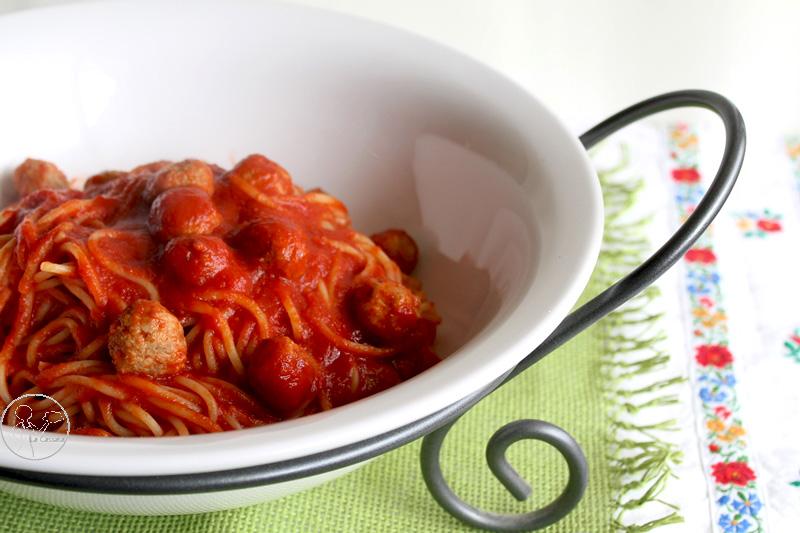 Spaghetti, sugo e polpettine - La Cassata Celiaca